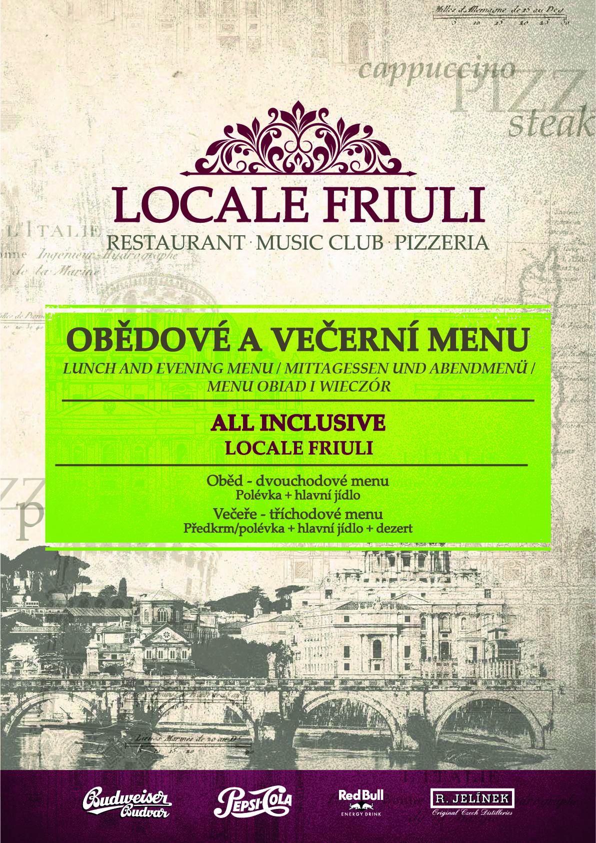 Obědové a večerní menu 1