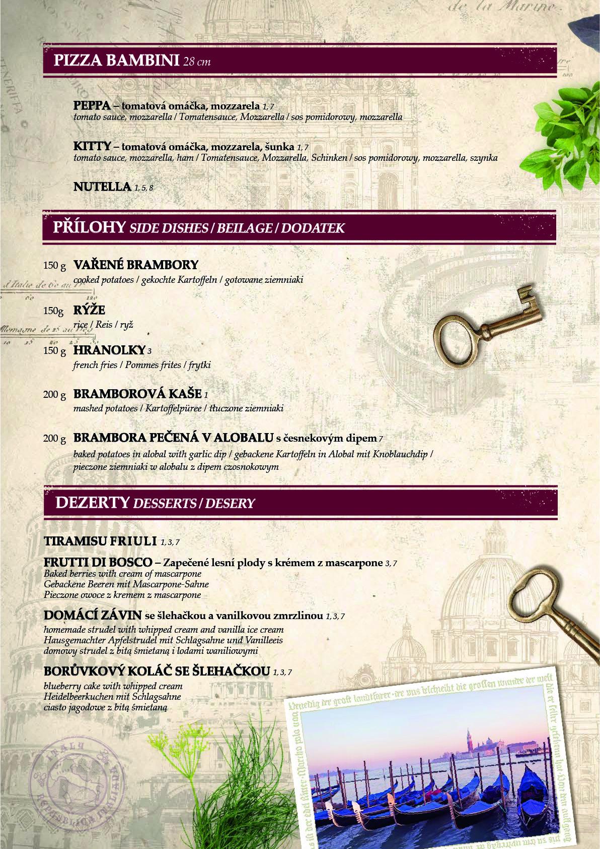 Obědové a večerní menu 10