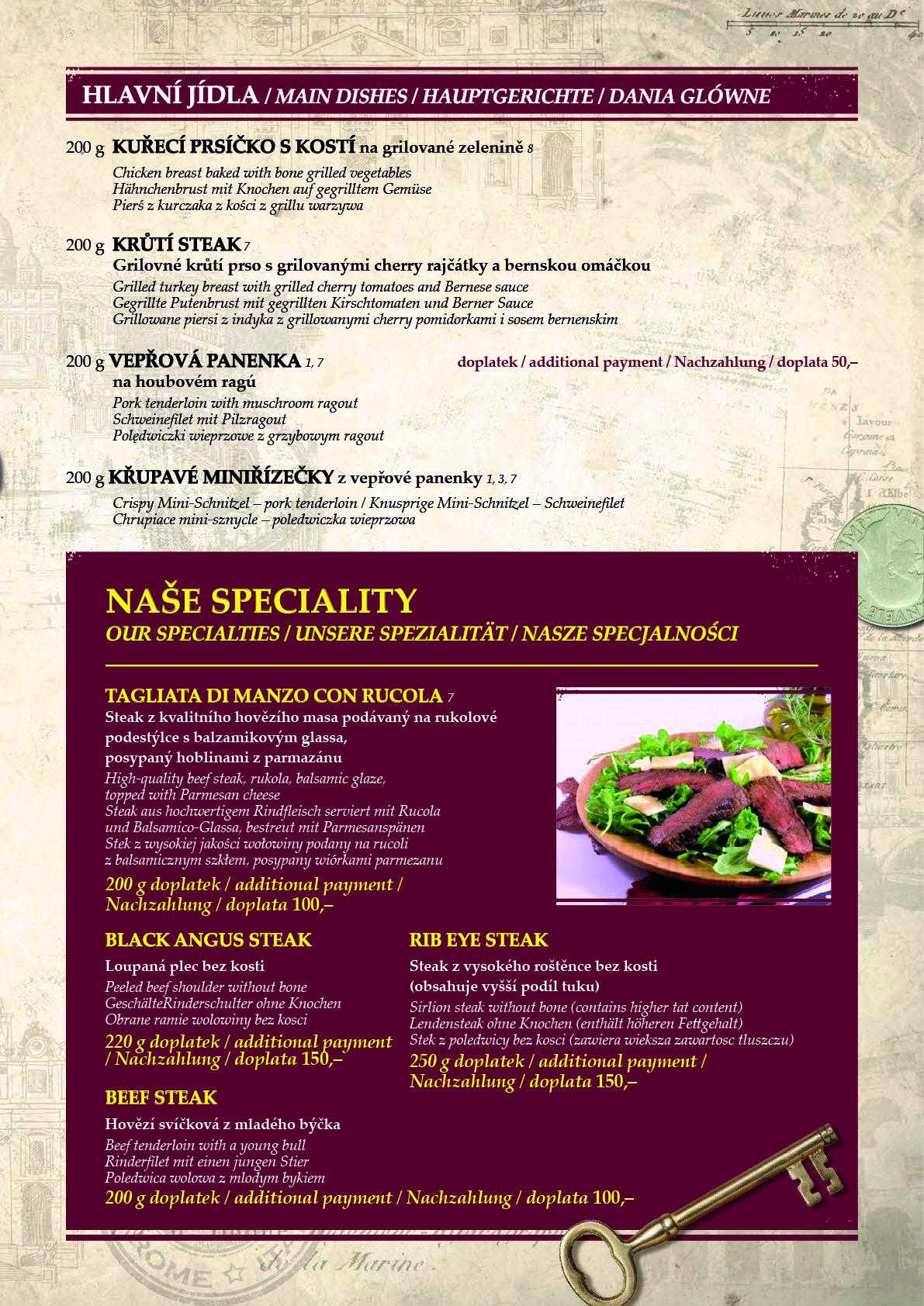 Obědové a večerní menu 5