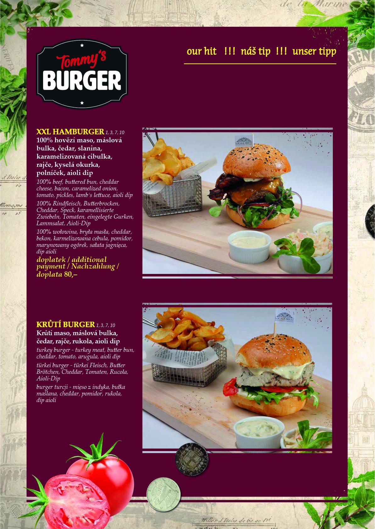 Obědové a večerní menu 6