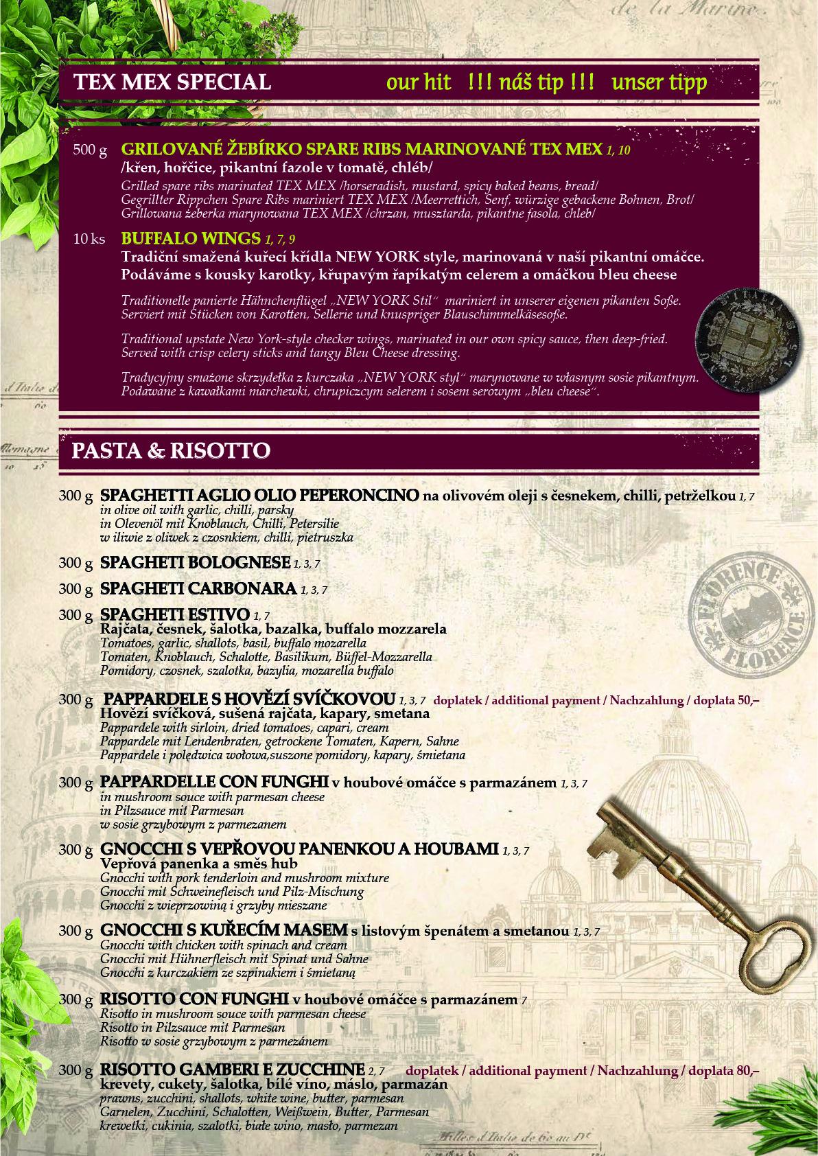 Obědové a večerní menu 8